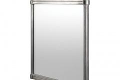 Brushed aluminium frame mirror