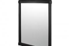 Black aluminium frame mirror