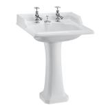 Classic round 65cm basin and Classic pedestal