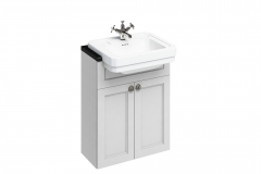 60 Double Door Basin Base Unit - Matt White