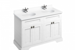 Freestanding 130 Vanity Unit with doors - Matt White