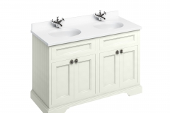 Freestanding 130 Vanity Unit with doors - Sand and Minerva white worktop