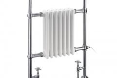 Trafalgar radiator with angled valves