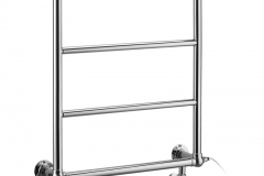 Cleaver radiator with angled valves