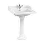 Classic 65cm basin and regal round pedestal