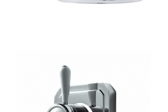 Classic 1910 single outlet shower set with wall arm - high pressure