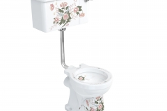 English Garden low-level pan with English Garden lever cistern