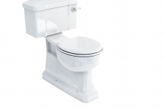 Extended depth S Trap close coupled WC with ceramic lever flush - 52 cm wide