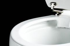 Rimless Close Coupled Pan with cistern (51cm) ceramic lever